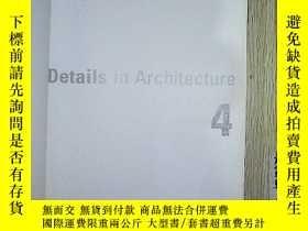 二手書博民逛書店英文原版罕見details in architecture 4