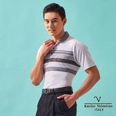 【Emilio Valentino】簡約時尚涼感機能POLO衫-灰