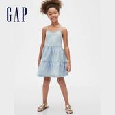 Gap女童淺色水洗吊帶洋裝578420-牛仔色