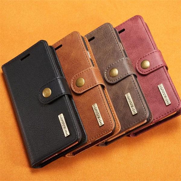 三星 Note8 牛皮磁扣 復古插卡式 可立手機皮套 翻蓋 側翻 內麂皮質 全包手機套 錢包式手機套