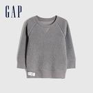 Gap男幼童 簡約風格仿羊羔絨休閒上衣 656949-灰色