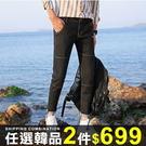 任選2件699牛仔褲男士休閒牛仔褲小腳長...