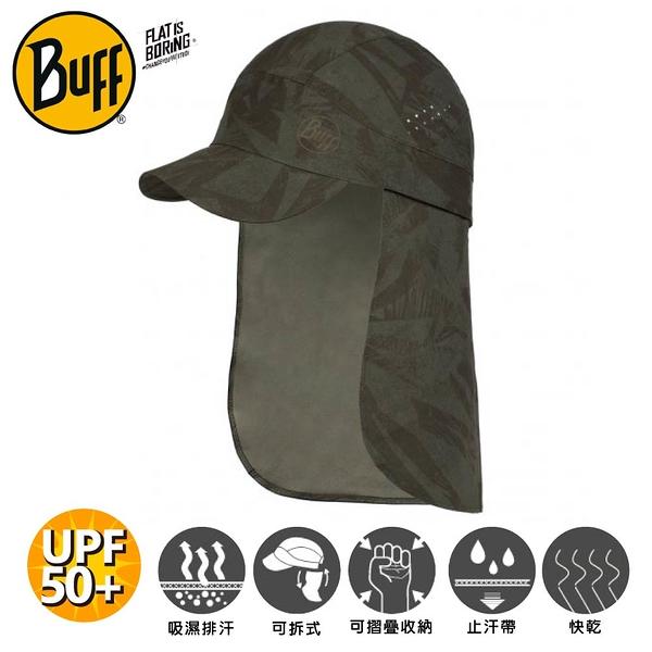 【BUFF 西班牙 可拆式護頸帽《叢林墨綠》】125341/防曬帽/遮陽帽/登山/露營