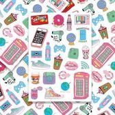 簡約元素少女零食生活用品行李箱防水裝飾貼紙電腦手機貼A4整張【韓衣舎】