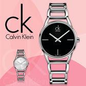 CK手錶專賣店 K3G23121K3G23126女錶 鏤空鍊帶 黑面 白面 石英 摺疊式安全錶扣 夜光指針 礦物抗磨玻璃