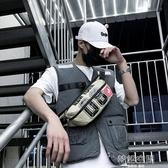 潮牌腰包男2019新款斜背包多功能休閒胸包嘻哈個性學生單肩小背包
