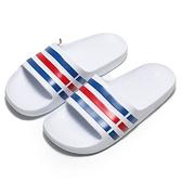 ADIDAS 拖鞋 DURAMO SLIDE 白 藍紅線 防水 運動 男女(布魯克林) U43664