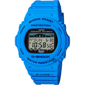 CASIO 卡西歐 G-SHOCK 太陽能電波衝浪手錶-海洋藍 GWX-5700CS-2 / GWX-5700CS-2DR