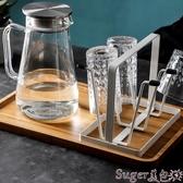 杯架托盤玻璃水杯掛架 瀝水置物架杯架水杯架 創意家用收納杯子架倒掛 suger