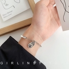 手鏈 招財納福手鏈女小眾設計網紅森系韓版學生個性簡約情侶款手飾【快速出貨八折下殺】