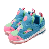 Reebok 慢跑鞋 Versa Pump Fury SYN 藍 綠 粉紅 童鞋 小童鞋 運動鞋 【ACS】 BD2377