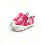皮面質感 寶寶學步鞋《7+1童鞋》D546 桃色