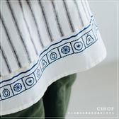 罩衫  水果王國印花直條雙面穿棉麻衫 單色-小C館日系