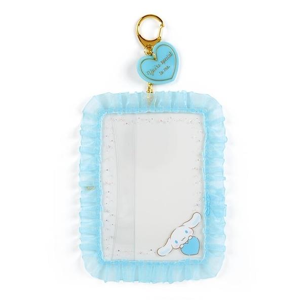 小禮堂 大耳狗 蕾絲邊框相框鑰匙圈 透明相框 相框吊飾 相片架 (藍 演唱會粉絲收納)