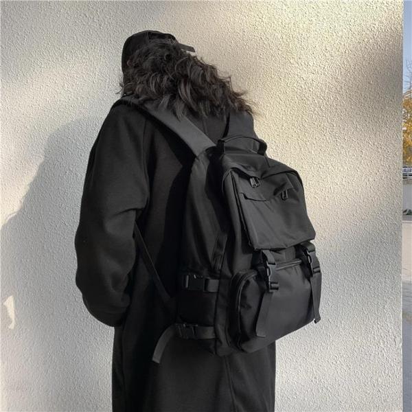 書包女韓版高中原宿ulzzang大學生百搭ins後背包大容量暗黑背包男 米娜小鋪