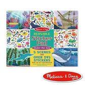 美國瑪莉莎 Melissa & Doug 貼紙簿 - 可重複貼 - 海底世界