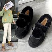雪地靴-冬季新款冬鞋保暖加絨百搭韓版雪地靴女短筒短靴平底學生棉鞋 東川崎町