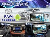 【專車專款】 13~18年TOYOTA RAV4 專用10.1吋觸控螢幕安卓多媒體主機*藍芽+導航+安卓