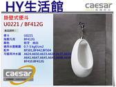 Caesar 凱撒衛浴 U0221 / BF412G 壁掛式小便斗(指壓式沖水凡而)   [區域限制]