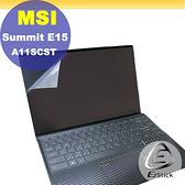 MSI Summit E15 A11SCST 觸控版 適用 靜電式筆電LCD液晶螢幕貼 (可選鏡面或霧面)