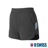 K-SWISS Woven Shorts 3運動短褲-女-黑/藍