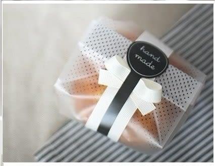 10入 黑色hand made 禮盒包裝配飾 棒棒糖封口貼