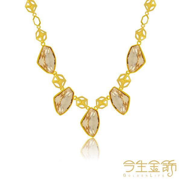今生金飾    幾何項鍊  時尚黃金項鍊  結婚套組項鍊