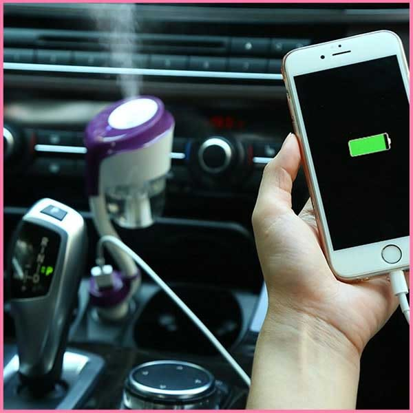 車載加濕器 直插 汽車 USB充電 迷妳 加濕噴霧器  靜音 香薰空氣凈化 二代  E起購