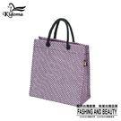 手提袋-編織袋(S)-黑粉紫-03C...