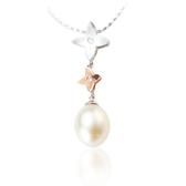 【LECRIN翠屋珠寶】天然白珍珠9.1*12.5mm鑽墬(不含鍊)