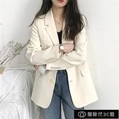 西裝外套 小個子西裝外套女春秋季新款高級設計感小眾休閑白色西服上衣
