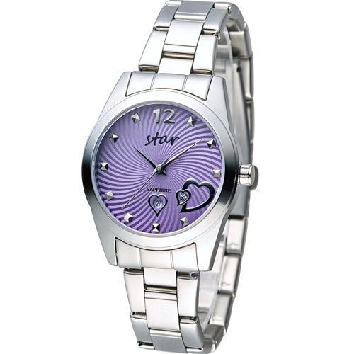 STAR 時代 甜蜜雙心石英錶 9T1603-161S-V