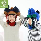 兒童手套冬男孩女孩保暖加絨五指秋冬小孩寶寶手套1-3歲男女童潮 焦糖布丁 一米陽光