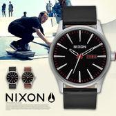 【最新作】NIXON THE SENTRY Leather 男女兼用/時尚軍風/防水/A105-000