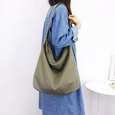 帆布袋 側背包 素色 簡約 磁釦 手提包 帆布包 斜背包 環保購物袋-手提/單肩包【AL031】 icoca  09/20