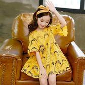 女童洋氣裙子2018新款連身裙夏季童裝韓版中大童女孩時髦潮公主裙   初見居家
