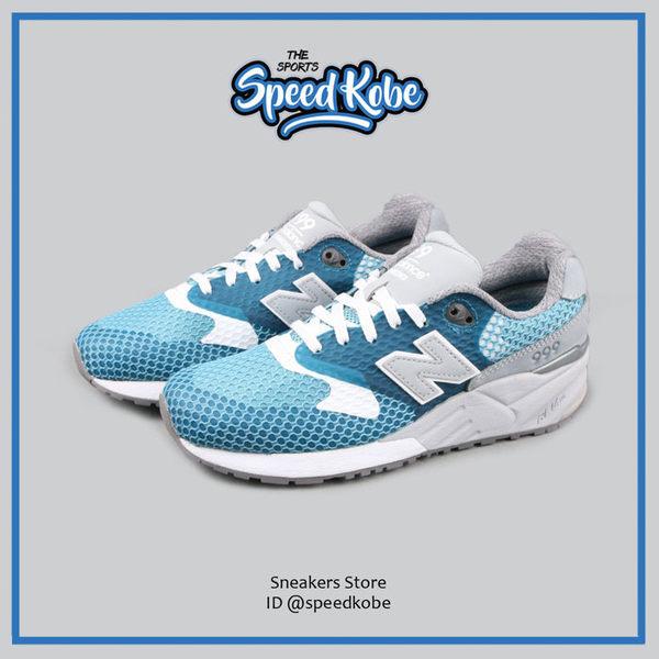 NEW BALANCE 999 復古慢跑鞋 水藍灰 透氣 情侶鞋 男女 MRL999AK【Speedkobe】