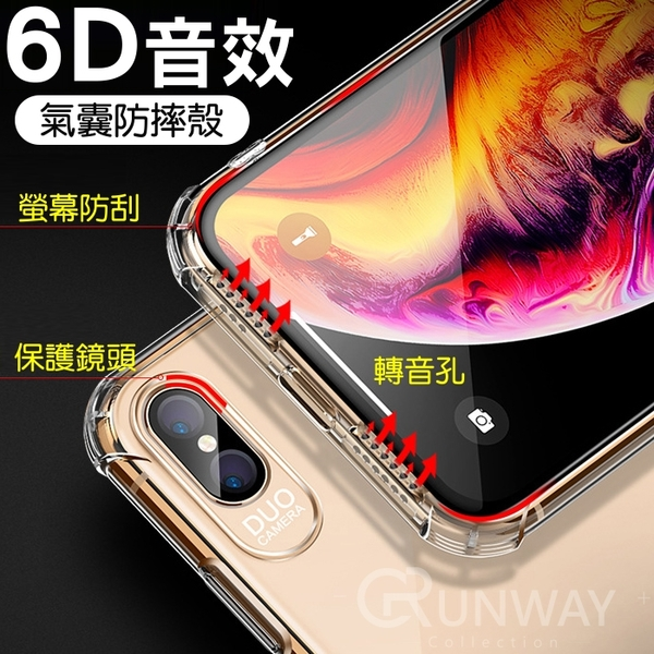 【現貨】6D音效 全透明 四角氣囊防摔殼 立體聲 轉聲盾 蘋果 手機殼 iPhone11 pro Xs Max XR 全包邊軟殼