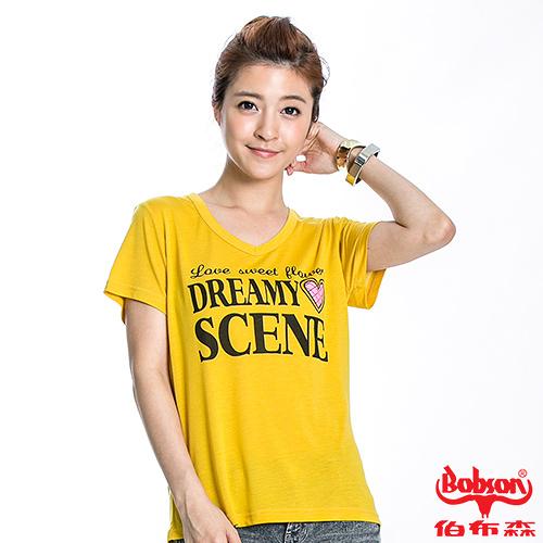 BOBSON 女款SCENE短袖上衣(20127-36)