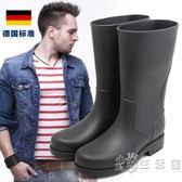 男士中高筒雨鞋釣魚靴雨靴水鞋套鞋膠鞋防水鞋防滑  小時光生活館