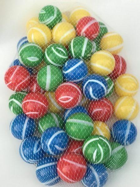*粉粉寶貝*超限量新色~彩色條紋遊戲球~加厚款~外銷限定款遊戲彩球 ~50球賣場~台灣製~SGS
