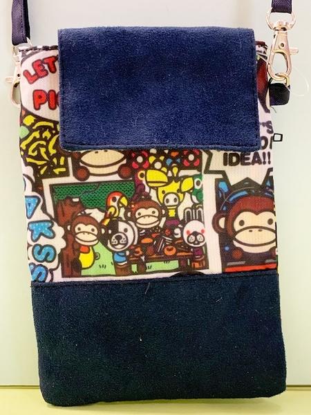 【震撼精品百貨】BANANA CHIPPY_馬桶洋行~大嘴猴 側背袋/手機袋-滿版#85923