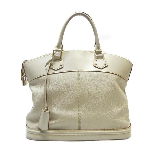 LV 珍珠白山羊皮手提包 Suhali Lockit MM Hand Bag M91874 【BRAND OFF】