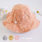 可愛大寬簷卡通印花遮陽帽 童帽 帽子 遮陽帽 防曬帽 漁夫帽