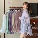 薄款防曬襯衫上衣外套女春夏季2021新款百搭寬鬆紫色衣服防紫外線 小時光生活館
