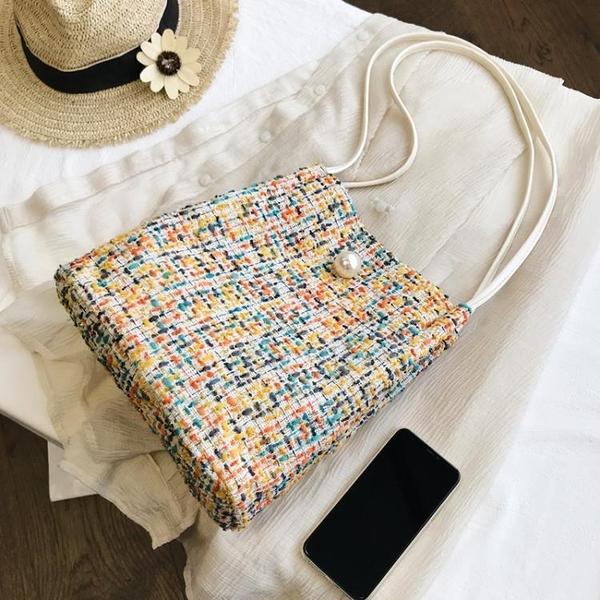 編織包 上新小包包女2020流行新款潮韓版百搭少女單肩包時尚水桶包洋氣包