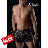 Aubade man-壞男人M-XL舒棉平口褲(骷髏系列)
