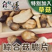 綜合菇脆片40g 自然優 日華好物 內含草菇、香菇、秀珍菇、杏鮑菇