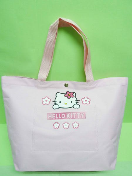 【震撼精品百貨】Hello Kitty 凱蒂貓~大容量手提袋肩背包『粉底小花臉』