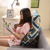 靠枕帶頭枕床頭靠墊背三角抱枕 沙發辦公室飄窗腰枕腰靠護腰枕頭